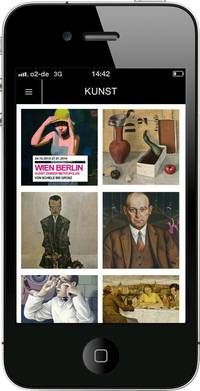 """Wien Berlin App: Die App bietet mit einer Auswahl der Werke aus der Ausstellung """"Wien Berlin"""" einen Einblick in die Kunst der Metropolen im frühen 20. Jahrhu..."""