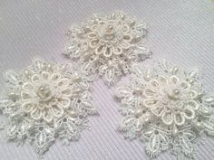 Package Topper, Gift Tag, Shabby Chic, Christmas Tree Ornament, Door Knob Decor, Snowflake