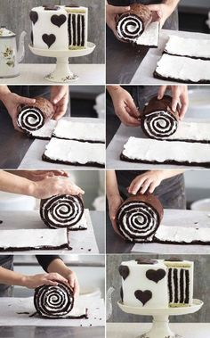 Striped cake made just by rolling!