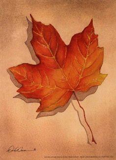 Golden Autumn Art Poster by Diane Weaver