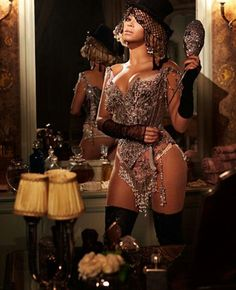 Beyonce in Christian Lacroix for her Partition video. Queen Bee Beyonce, Beyonce And Jay Z, Angelina Jolie, Beyonce Style, Photoshoot Themes, Beyonce Knowles, Celebrity Weddings, Celebs, Vintage