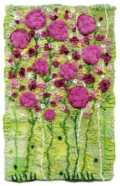 Rose Garden by Kirsten's fabric art