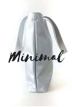Minimal + Chic silver leather tote made by hand in Italy by Pitti Vintage https://www.etsy.com/listing/504258124/vegan-silver-leather-tote-minimalist-bag?ref=shop_home_active_1