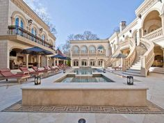 The movie mansion in the city's exclusive Buckhead neighborhood has also starred in HGTV's 'Million Dollar Rooms' and 'The Three Stooges'. Atlanta Mansions, Mega Mansions, Atlanta Homes, Luxury Mansions, Million Dollar Rooms, Courtyard Pool, Villa, Le Palais, Expensive Houses