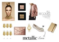 Metallic Love ~ by zaxyshoes-co-uk on Polyvore featuring Topshop, Rebecca Minkoff, Tory Burch, Bobbi Brown Cosmetics and Leonardo
