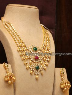 3 Layers Pachi Necklace with Pearls