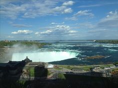 Niagara Falls view from hotel room amazing vacation