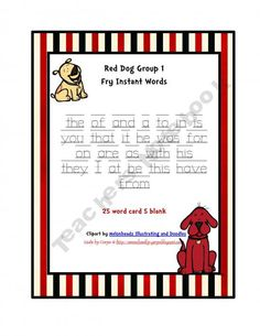 Red Dog Group 1 Fry Words