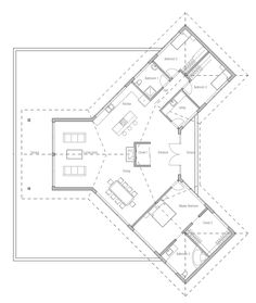 Plan 77135LD: C-Shaped Floor Plan | Courtyard house plans, Courtyard ...