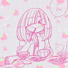 Pink Wallpaper Anime, Iphone Wallpaper, Animes Wallpapers, Cute Wallpapers, Otaku Anime, Anime Art, Manga Cute, Animes Yandere, Drawing Reference Poses