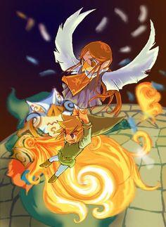 Fantastic Wind Waker art linked Legend of Zelda