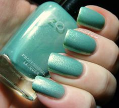 Zoya Dillon - minty green metallic with white and gold shimmer | Pointless Cafe