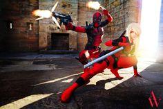 #Cosplay: Deadpool & Lady #Deadpool #Rule63