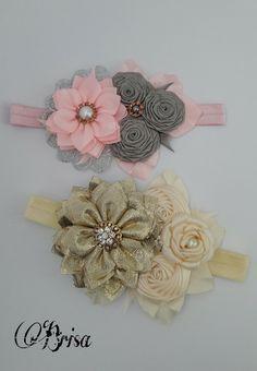 Ribbon Art, Fabric Ribbon, Ribbon Bows, Fabric Flowers, Vintage Headbands, Baby Girl Headbands, Bow Hair Clips, Hair Bows, Hair Fair