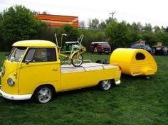 VW pick up + trailer