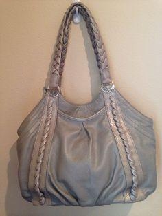 ee978db57585 Brighton Silver Leather Handbag Purse  Brighton  ShoulderBag
