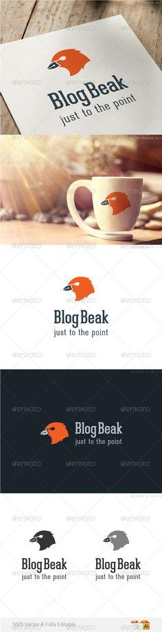 Writing business logo template