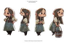Hansel Sketches - Little Girl - By Ryan Lang