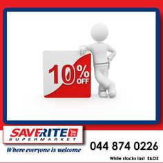 Take this opportunity to stock up on your groceries with our 10% discount on all till slips clearance sale at Saverite Supermarket, York street. #groceries #supermarket Special Of The Day, York Street, Clearance Sale, Opportunity