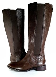 7ba4fd88266  395 Tory Burch Boots 8 Christy Brown Tall Riding Boots Leather  EXCELLENT   SZ 8