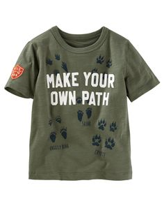 Kid Boy Make Your Own Path Tee | Carters.com