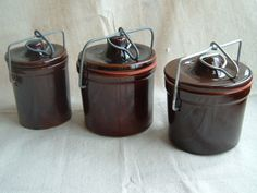 Vintage Brown Stoneware Cheese Crock by DivaInTheDell on Etsy, $8.00