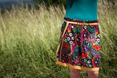 This circle colorful ethno skirt is made of soft cotton, it´s perfect for summer. It has elastic waistband with yellow belt.Waist circumference: 80 cmFrom waist to hem: 45 cmSize: M / MediumCare: hand wash in cold water Yellow Belt, Beach Skirt, Summer Skirts, Winter Accessories, Boho Gypsy, Colorful Fashion, Fabric Design, Beachwear, Clothes For Women