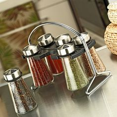 You can decorate your kitchen design with beautiful spice shakers. We share with you our most beautiful spice shakers in this photo gallery.
