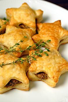 Mushroom Pate filled Puff Pastry Stars - Recipes, Dinner Ideas, Healthy Recipes & Food Guide