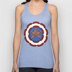 """Capt. 'Merica"" Women's Tank.  Available in many colors.  Check it out at www.curiosityapparel.com"