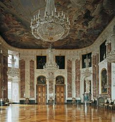 Mannheim Palace interior , Germany