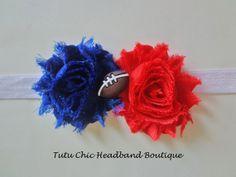 New York Giants Headband: baby headbands, newborn headband, football headbands, infant headband, toddler headband, childrens headband