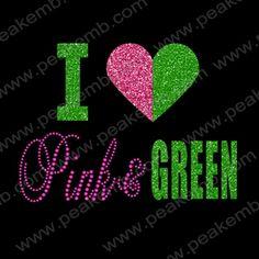New-Design-Free-Shipping-30pcs-Lot-I-Love-Pink-Green-font-b-Glitter-b-font-font.jpg (352×352)