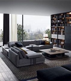 Big Sofas Applied Perfectly To Design Modern Living Room