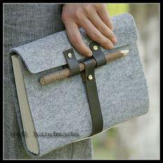 Cuir crayon de bois bandage tapirs vintage main ordinateur portable journal…