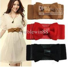 Big Fashion Belts | - Free Shipping~Fashion Ladies' Belt,Sweet Big Bow Elastic Belt ...