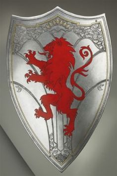 The Chronicles of Narnia: Peter's Shield -- this is kind of what I was thinking design-wise for the patches?