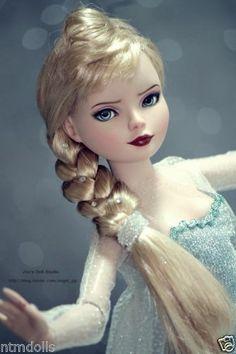 "Dressed OOAK ""Elsa"" Ellowyne Repaint (of Firmly Planted) by Joo Inspired by Elsa in Frozen | ntmdolls via eBay SOLD 5/25/14  $480.55 (3 bids - s***g)"