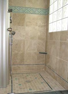 Glass blocks can bring light into a small, dark shower.