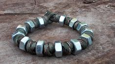 Prayer Bead And Hex Nut Paracord Bracelet (Music Version)