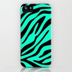 Neon Mint Zebra iPhone & iPod Case by M Studio