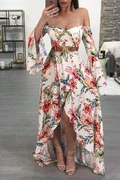 Best skirt long floral fashion 32 Ideas in 2020 Cute Dresses, Beautiful Dresses, Casual Dresses, Prom Dresses, Dress Outfits, Fashion Dresses, Cute Outfits, Floral Fashion, Boho Fashion