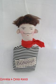Busto muñeco con cinta para colgar en coche puerta o donde se desee www.facebook.com/estrellandolls