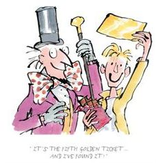QUENTIN BLAKE - Illustrateur de Roald Dahl - Charlie et la Chocolaterie.