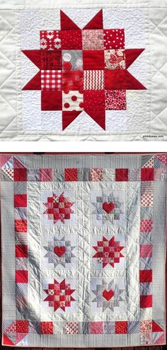 Uppsula Stars quilt pattern at Pink Doxies
