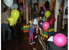 80s theme party. the decorations in these photos are laughable.