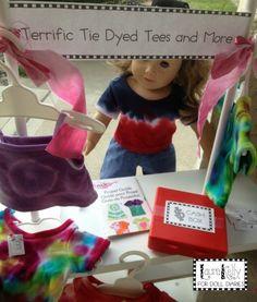Camp Doll Diaries – Terrific Tie Dye T-Shirt Stand