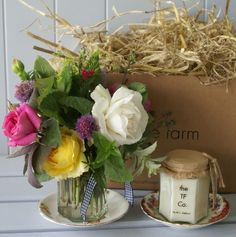 Pretty flower jars