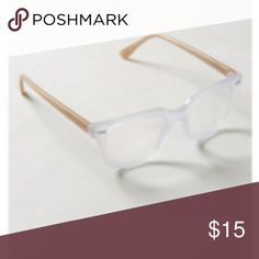 """Anthropologie Lake Valley Reading Glasses 1.5x I bought these at Anthropologie Christmas 2016 and rarely have used them. There are no scratches, just passing them along to someone that might love them! 1.5 strength and a pale blue color with contrast arms. There are no markings on the frames otherwise I would zoom in. They are acetate and 5.5"""" across. Anthropologie Accessories Glasses"""