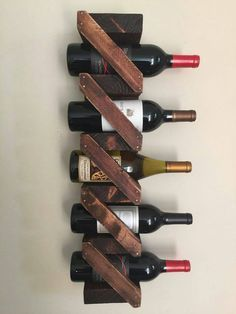 Rustic Wooden wine rack handmade home by thestandardcollectiv